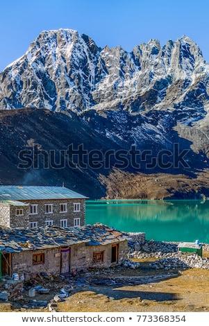 Everest göl köy seyahat Nepal gökyüzü Stok fotoğraf © Arsgera