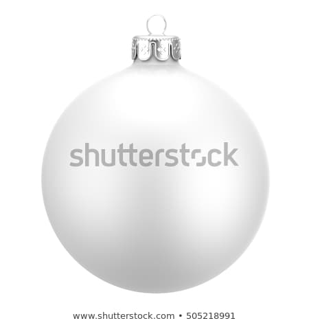 ornamented white christmas bauble Stock photo © prill