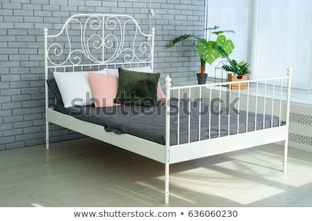 Luxurious  headboard with decorative frame. Bed. stock photo © Victoria_Andreas