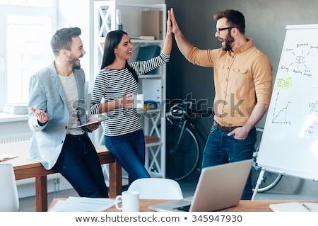 Colleagues working on a report together Stock photo © photography33