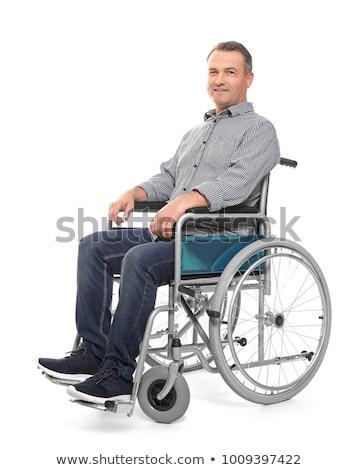 молодые · инвалидов · человека · коляске · портрет · счастливым - Сток-фото © photography33