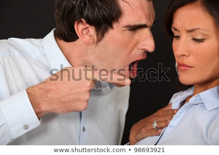 Hombre enojado compañera negocios Pareja empresarial Foto stock © photography33