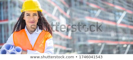 Female architect in front of foreman Stock photo © photography33