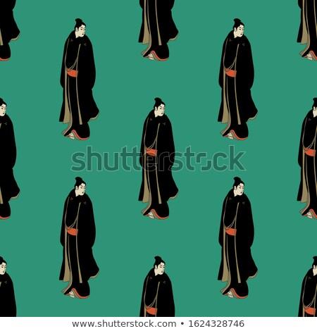 Japanese samurai seamless pattern Stock photo © lkeskinen