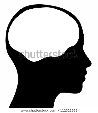 女性 頭 シルエット 脳 グラフィック 白 ストックフォト © RandallReedPhoto