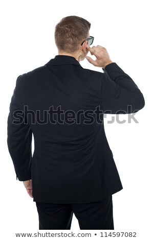 Bodyguard listening to vital information carefully Stock photo © stockyimages