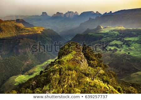 Góry krajobraz Etiopia charakter Zdjęcia stock © travelphotography