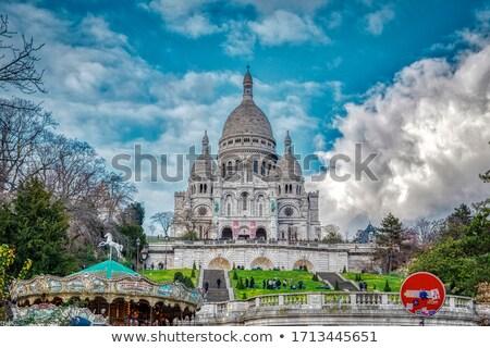 Detay katedral kilise mavi renk mimari Stok fotoğraf © jakatics