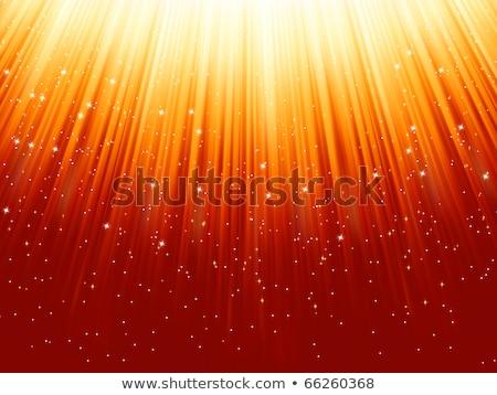 flocons · de · neige · étoiles · lumière · eps · chemin · or - photo stock © beholdereye