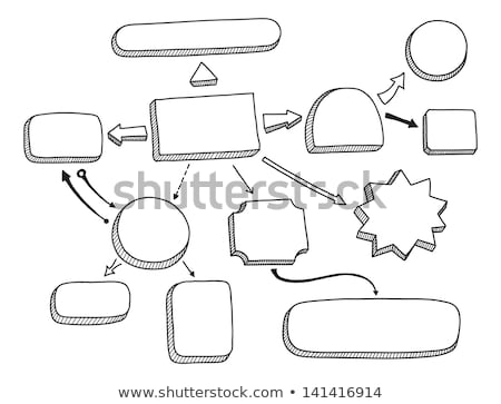 hand drawing project flow chart stock photo © ivelin