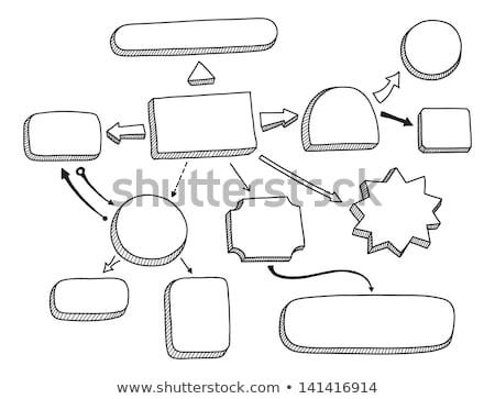 dibujo · comercialización · diagrama · de · flujo · bordo · persona · marcador - foto stock © ivelin