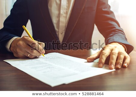 Man signing documents Stock photo © photography33