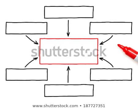 Strategy Flow Chart Red Marker Stock photo © ivelin