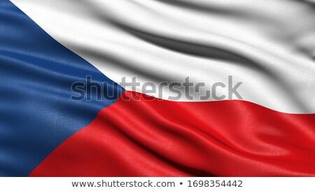 3D · bayrak · Çek · Cumhuriyeti · yalıtılmış · beyaz · seyahat - stok fotoğraf © MikhailMishchenko