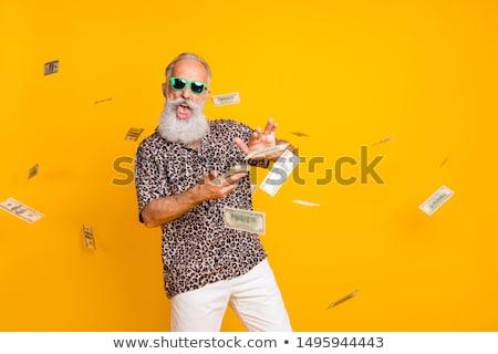 Vicces férfi arc haj portré fehér Stock fotó © photography33