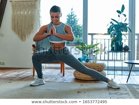 Vrouw aerobics gymnasium oefening persoon lifestyle Stockfoto © RazvanPhotography