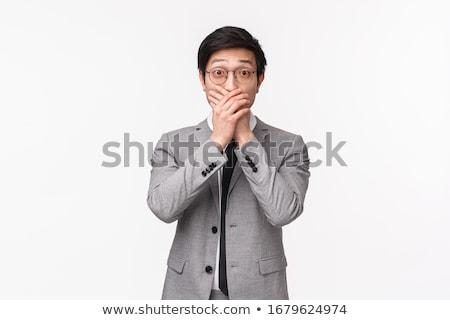 Empresário mudo negócio corpo boca Foto stock © photography33