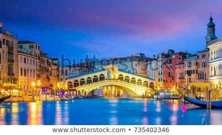 Köprü Venedik su yeşil tekne panorama Stok fotoğraf © cheyennezj