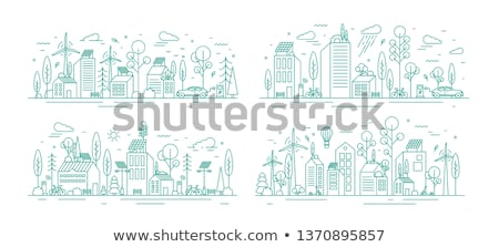 экологический города небе весны здании город Сток-фото © lipmic