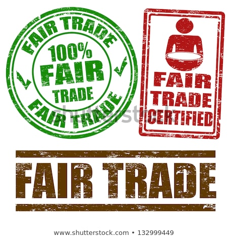 Fair Trade Rubber Stamp Stock photo © THP