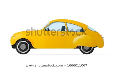 Sarı araba sedan yol model Metal Stok fotoğraf © leonido