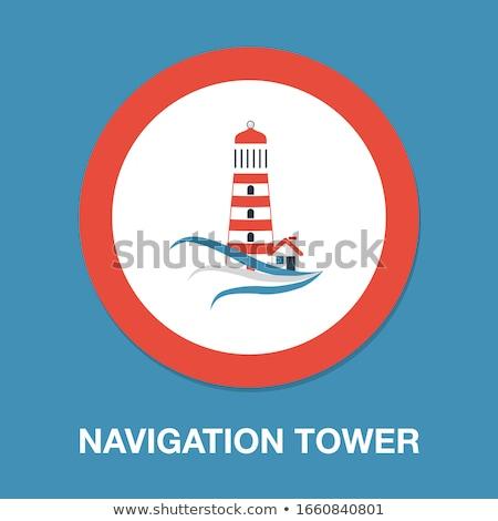 lighthouses in ocean Stock photo © smithore