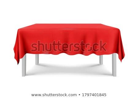 Rouge nappe illustration blanche design lumière Photo stock © dvarg