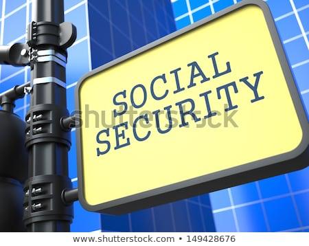 üzlet társadalombiztosítás útjelzés kék kártya irat Stock fotó © tashatuvango
