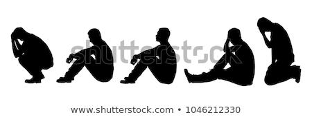 Serca zestaw ludzi włosy zdrowia podpisania Zdjęcia stock © anastasiya_popov