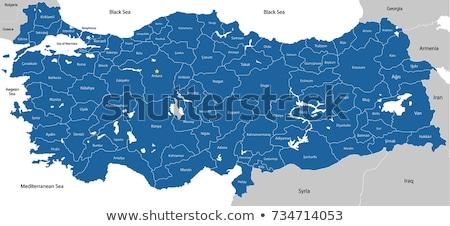 Black Turkey map Stock photo © Volina