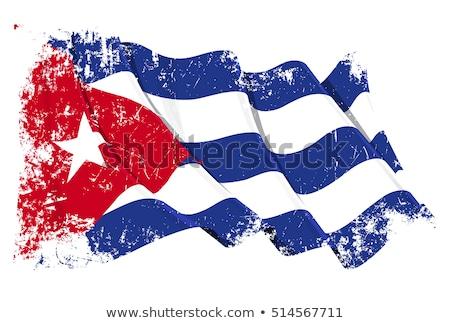 Гранж кубинский флаг текстуру бумаги старые Сток-фото © stevanovicigor