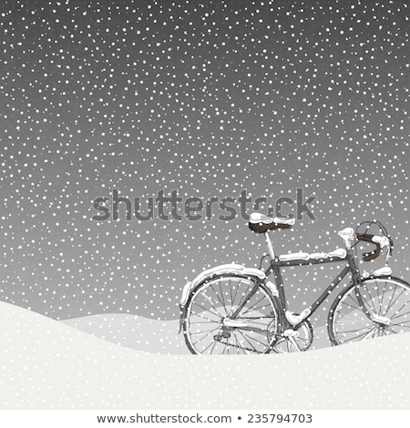 Snow-covered bicycle stock photo © gophoto