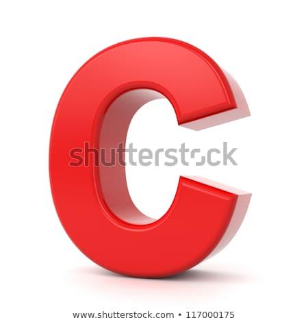 Rot 3D Buchstaben c Kunststoff Schreiben isoliert Stock foto © tashatuvango