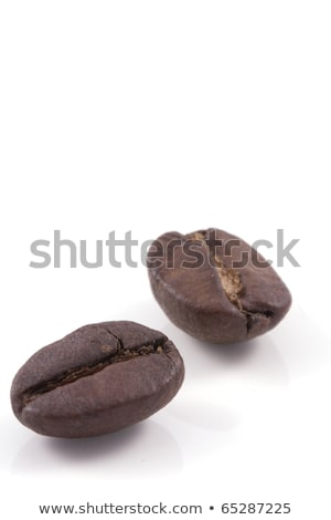 cup of black coffee with roasted coffe beans 2 Stock photo © mizar_21984