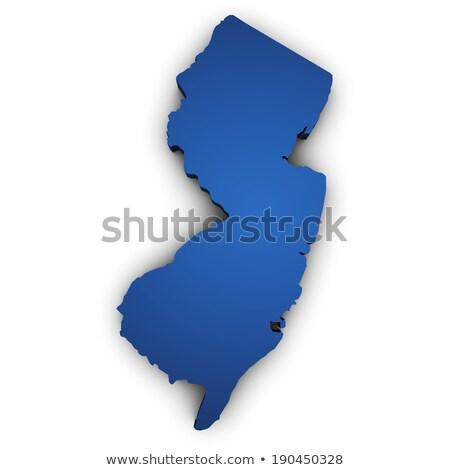 New Jersey harita 3D biçim bayrak yalıtılmış Stok fotoğraf © NiroDesign