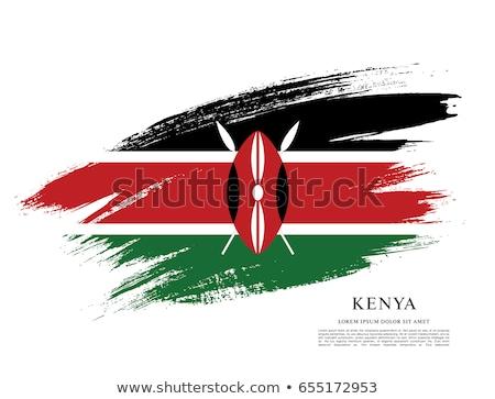 földgömb · zászló · Kenya · kék · izolált · fehér - stock fotó © zeffss