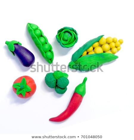 plasticine vegetables background Stock photo © sharpner
