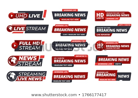 Vector 3d live stream icon Stock photo © nickylarson974