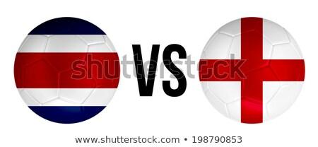 Costa Rica vs Engeland groep fase wedstrijd Stockfoto © smocker03