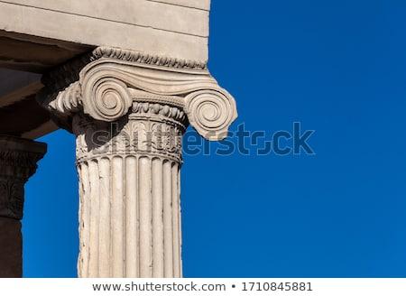 ionic column and ceiling acropolis stock photo © sirylok