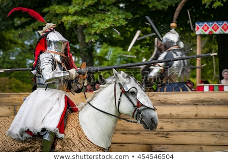 Stock photo: Fight between two medieval knight