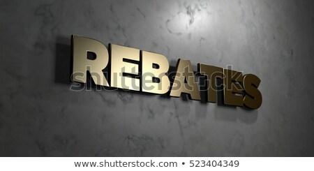 Online Rebate - Gold 3D Words. Stock photo © tashatuvango