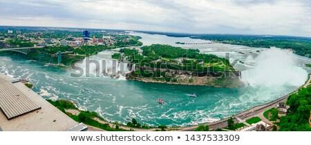 Fák vízpart folyó Niagara vízesés Ontario Kanada Stock fotó © bmonteny