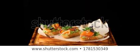 Bruschetta paradicsom pirítós diéta táplálkozás konyha Stock fotó © M-studio