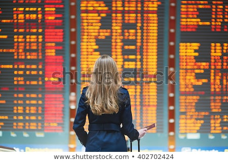 businesswoman in the airport stock photo © ssuaphoto
