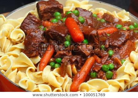 Pot zengin kahverengi sığır eti güveç çoklu Stok fotoğraf © photohome