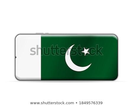 Okostelefon zászló Pakisztán telefon internet telefon Stock fotó © vepar5