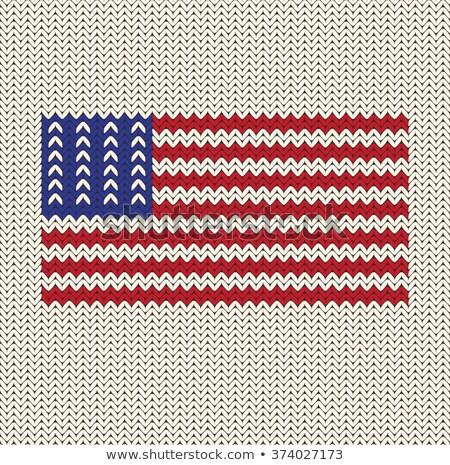 knitted flag Stock photo © nelsonart