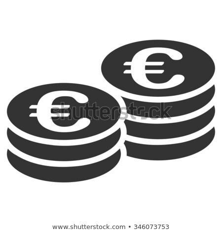 Euro monete grigio torre molti Foto d'archivio © gewoldi