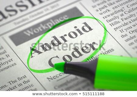 Android állások újság állás munka digitális Stock fotó © tashatuvango